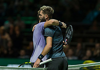 Rotterdam, The Netherlands, 11 Februari 2019, ABNAMRO World Tennis Tournament, Ahoy, first round singles: Benoit Paire (FRA) - Stan Wawrinka (SUI),<br /> Photo: www.tennisimages.com/Henk Koster