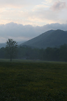 Cades Cove, Tennessee. Early morning landscape.