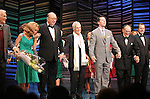 "Dick Latessa, Kristin Chenoweth, Neil Simon, Burt Bacharach, Sean Hayes, Hal David, Rob Ashford.taking a bow on the  Opening Night Broadway performance Curtain Call for ""PROMISES, PROMISES"" at the Broadway Theatre, New York City..April 25, 2010."