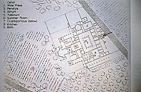 Ground plan of typical Roman villa urbana, showing location of wine press and cellar