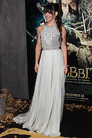 "HOLLYWOOD, CA - DECEMBER 02: Evangeline Lilly arriving at the Los Angeles Premiere Of Warner Bros' ""The Hobbit: The Desolation Of Smaug"" held at Dolby Theatre on December 2, 2013 in Hollywood, California. (Photo by Xavier Collin/Celebrity Monitor)"