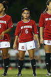 04 September 2015: NC State's Crystal Cordova. The North Carolina State University Wolfpack hosted the Oregon University Ducks at Dail Soccer Field in Raleigh, NC in a 2015 NCAA Division I Women's Soccer game. NC State won the game 2-0.