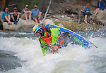 May 30, 2016 - Buena Vista, Colorado, U.S. -  Team Jackson freestyle kayaker, Stephen Wright, paddles to a  second place finish in the Men's Freestyle Kayak competition during the CKS Paddlefest, one of the Rocky Mountain Region's first adventure events of the summer in Buena Vista, Colorado.
