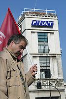 Roma, 11 marzo 2005. Manifestazione nazionale dei lavoratori della Fiat..Photo Antonello Nusca/Buenavista photo