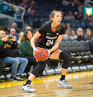SAN FRANCISCO, CA - NOVEMBER 09: San Francisco, CA - November 9, 2019: Lacie Hull at the Chase Center. The Stanford Cardinal defeated the USF Dons 97-71. during a game between University of San Francisco and Stanford Basketball W at Chase Center on November 09, 2019 in San Francisco, California.