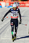 Dietmar NOECKLER competes during the FIS Cross Country Ski World Cup15 Km Individual Classic race in Dobbiaco, Toblach a, on December 20, 2015. Norway's Martin Johnsrud Sundby wins. Credit: Pierre Teyssot