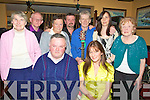 STARS: Stars of the bars who sang with the backing of Mike Gaffney in the Munster bar, Ballymullen Tralee on Thursday eveningh. Front l-r: Francis Walsh and Martina Moriarty. Standing l-r:  Mary O'Shea, Paul Hobbert, Mary Walsh, Tadgh Kelly, Mike Gaffney, Caroline Brosnan and Alice Tiernan.................................. ....