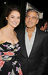 "LOS ANGELES, CA - NOVEMBER 15: Shailene Woodley and George Clooney attend ""The Descendants"" Los Angeles Premiere at AMPAS Samuel Goldwyn Theater on November 15, 2011 in Beverly Hills, California."