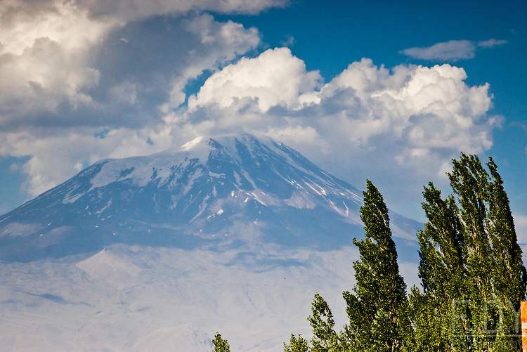 View on the mount Ararat from the area around Dogubayazit (Eastern Turkey)