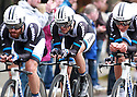 Team Giant-Shimano (NED) race past Queen's University Belfast during the first stage of the 2014 Giro d'Italia, a 21km Team Time Trial stage, May 9, 2014 in Belfast, Northern Ireland.