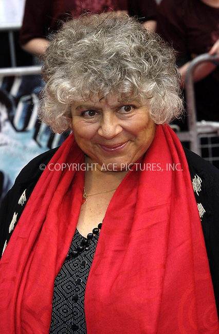 """WWW.ACEPIXS.COM . . . . .  ..... . . . . US SALES ONLY . . . . .....July 7 2009, London....Miriam Margolyes at the World Premiere of """"Harry Potter And The Half-Blood Prince"""" held at the Empire Leicester Square on July 7 2009 in London....Please byline: FAMOUS-ACE PICTURES... . . . .  ....Ace Pictures, Inc:  ..tel: (212) 243 8787 or (646) 769 0430..e-mail: info@acepixs.com..web: http://www.acepixs.com"""