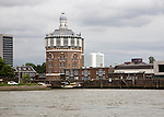 Water tower on the River Maas Rotterdam Netherlands