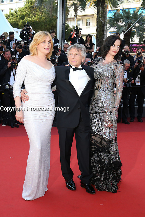 EMMANUELLE SEIGNER, DIRECTOR ROMAN POLANSKI AND EVA GREEN - RED CARPET OF THE FILM 'D'APRES UNE HISTOIRE VRAIE' AT THE 70TH FESTIVAL OF CANNES 2017