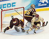 Ben Marshall (Minnesota - 10), Kent Patterson (Minnesota - 35), Pat Mullane (BC - 11) - The Boston College Eagles defeated the University of Minnesota Golden Gophers 6-1 in their 2012 Frozen Four semi-final on Thursday, April 5, 2012, at the Tampa Bay Times Forum in Tampa, Florida.