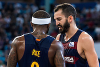 FC Barcelona Lassa's players Tyrese Rice and Pau Ribas during the match of the semifinals of Supercopa of La Liga Endesa Madrid. September 23, Spain. 2016. (ALTERPHOTOS/BorjaB.Hojas)