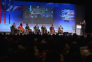 Washington, DC - September 17, 2015: TV and radio host Roland S. Martin moderates the 'National Town Hall: Black Lives Matter' panel discussion during the Congressional Black Caucus Foundation's 2015 Annual Legislative Conference at the Washington Convention Center in the District of Columbia, September 17, 2015  (Photo by Don Baxter/Media Images International)