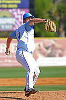 Myrtle Beach Pelicans pitcher Chad Bell #19 on the mound during a game vs. the Wilmington Blue Rocks at BB&T Coastal Field in Myrtle Beach, South Carolina on April 10, 2011.   Photo By Robert Gurganus/Four Seam Images