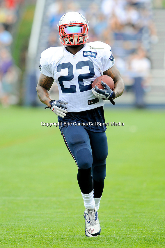 July 28, 2013 - Foxborough, Massachusetts, U.S. - New England Patriots running back Stevan Ridley (22) during day 4 of the New England Patriots training camp held at Gillette Stadium in Foxborough Massachusetts.   Eric Canha/CSM