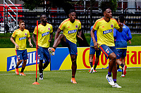 BOGOTA, COLOMBIA - JUNE 5: Players of the Colombian National Soccer Team, jog during a training session on June 5, 2019 in Bogota, Colombia. Colombia will face Argentina, Paraguay and Qatar on their first stage of the Copa America Brazil 2019. (Photo by VIEWPRESS/Leonardo Muñoz)