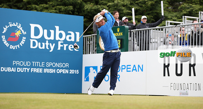 Soren Kjeldsen (DEN) begins Round Three of the 2015 Dubai Duty Free Irish Open Hosted by The Rory Foundation at Royal County Down Golf Club, Newcastle County Down, Northern Ireland. 30/05/2015. Picture David Lloyd | www.golffile.ie