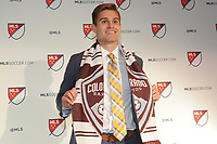Philadelphia, PA - Thursday January 19, 2018: Alan Winn during the 2018 MLS SuperDraft at the Pennsylvania Convention Center.