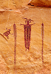 Medicine man pictograph near Eye of Sinbad, north of Green River, Utah.