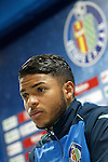 Getafe's Wanderson in press conference after La Liga match. February 27,2016. (ALTERPHOTOS/Acero)