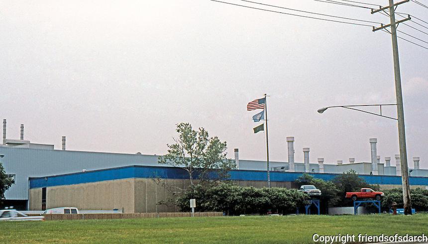 Albert Kahn: Monroe, Michigan. Dodge Truck Assembly. (Kahn's Half-ton Truck Plant long demolished.)  Photo '97.