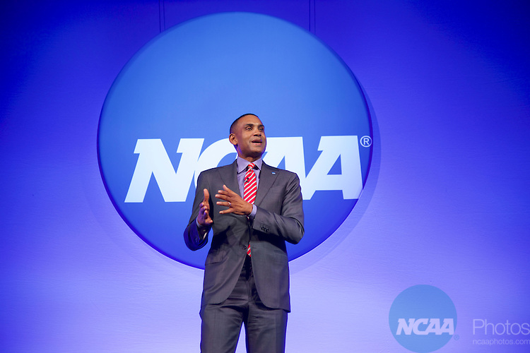 20 JAN 2017: The NCAA Association Luncheon takes place during the 2017 NCAA Convention at the Gaylord Opryland Resort and Convention Center in Nashville, TN.  Jamie Schwaberow/NCAA Photos  (Pictured:  Grant Hill)