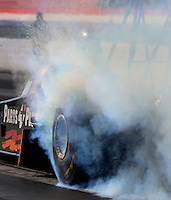 May 16, 2014; Commerce, GA, USA; NHRA top fuel dragster driver Clay Millican during qualifying for the Southern Nationals at Atlanta Dragway. Mandatory Credit: Mark J. Rebilas-USA TODAY Sports