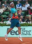 Fabio Fognini (ITA) loses  at Roland Garros in Paris, France on June 1, 2012