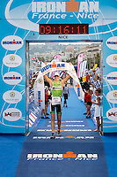 Tine Decker wins first female place at Ironman France 2012, Nice, France, 24 June 2012. Tine broke the course record with a time of 9:16:05.