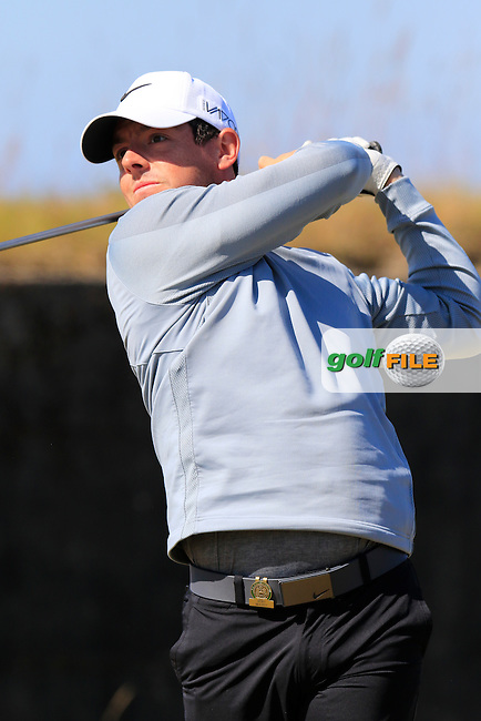 Rory MCILROY (NIR) tees off the 18th tee during Wednesday's Practice Day of the 2015 U.S. Open 115th National Championship held at Chambers Bay, Seattle, Washington, USA. 6/17/2015.<br /> Picture &copy; Golffile/Eoin Clarke