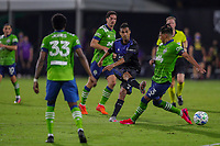 10th July 2020, Orlando, Florida, USA;  San Jose Earthquakes forward Chris Wondolowski (8) takes a shot on goal during the soccer match between the Seattle Sounders and the San Jose Earthquakes on July 10, 2020, at ESPN Wide World of Sports Complex in Orlando, FL.