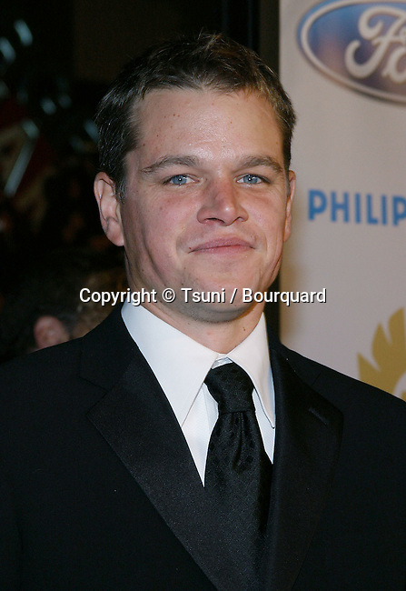 "Matt Damon arriving at the ""Ocean's 12"" Premiere held at Grauman's Chinese Theatre in Los Angeles on Wednesday, December 8, 2004."