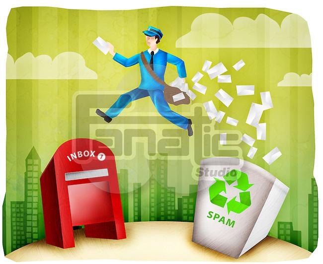 Mailman delivering mail after filtering spam mails