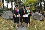 23/10/2015  Pictured at the recent Mary Immaculate College conferring ceremonies were Edwina Cooney, Dungarven, Co. Waterford, Eimear Ni Fhlatharta, Inverin, Co. Galway and Sarah Corcoran, Castlemane, Co. Kerry, who all graduated with a Graduate Diploma in Education. 625 students from 20 counties and 3 continents were conferred with academic awards across the College&rsquo;s 27 programmes including the College&rsquo;s 100th PhD award.<br /> Pic: Gareth Williams / Press 22<br /> <br /> Press Release: 23rd October 2015Education is a movement of formation that enables the individual to play their role in transforming society for the common good.100th PhD Graduate Conferred at Mary Immaculate CollegeEducation is a movement of formation that enables the individual to play their role in transforming society for the common good according to Prof. Michael A Hayes, President of Mary Immaculate College, who was speaking at the College&rsquo;s conferring ceremonies today Friday 23rd October. The quality of advanced scholarship at Mary Immaculate College was evident on the day as the 100th PhD graduate was conferred along with close on 650 students from 20 counties and 3 continents all of whom graduated with academic awards across the College&rsquo;s 27 programmes. Congratulating all those graduating the President said &ldquo;These ceremonies mark the high point of the College&rsquo;s year as we acknowledge the achievement of our students. The ceremonies this year are particularly special as we mark the conferring of our 100th PhD Graduate &ndash; this is a very proud achievement for us as a College and I want to congratulate those who have received these doctorates and my colleagues who supervised their work&rdquo;. Not only were students conferred with awards on undergraduate, diploma, graduate diploma and master programmes but this year marked the first graduation of students from the Certificate in General Learning &amp; Personal Development, a programme  for people with intellectual disabilities.&ldquo;Working with students with