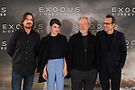Sir Ridley Scott (2R), Christian Bale (L), Alberto Iglesias (R) and spanish actress Maria Valverde pose during the World Premiere of 'Exodus: Gods and Kings' in Madrid, Spain. december 04, 2014. (ALTERPHOTOS/Victor Blanco)