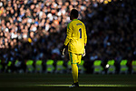 Goalkeeper Keylor Navas of Real Madrid gestures during the La Liga 2017-18 match between Real Madrid and FC Barcelona at Santiago Bernabeu Stadium on December 23 2017 in Madrid, Spain. Photo by Diego Gonzalez / Power Sport Images
