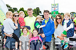 Kerry legend Eoin Brosnan at the at the finish of his first Ring of Kerry cycle in Killarney on Saturday l-r: Elizabeth, Mary, Jane and Eoin Annie Brosnan, Liam O'Toole, Noelle o'Brien, Ria O'Toole, Damian and Kate O'Toole