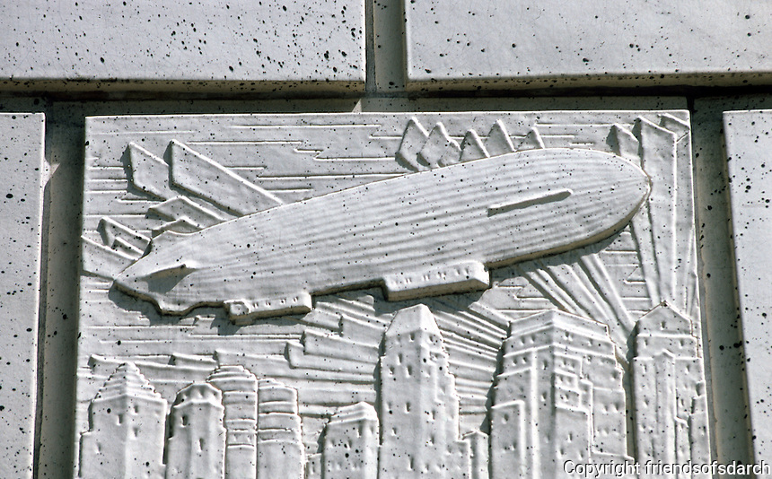 Vancouver: Marine Building--Airship Detail. Photo '86.