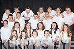 Knocknagoshel NS pupils who sang in the choir at the Kerry Peace Proms in the INEC on Sunday front row l-r: Rith Cahill, Joanna Browne, Shania Griffin, Morgan O'Connell. Second row: Sarah Cusack, Ava Flaherty, Aine Poff, Niamh O'Shea, Meaghan Cahill, Lucia Collins. Third row: Adam Fallon, Cian Walsh, Alex O'Connor, Meaghan Collins, Tessa Collins. Back row: Fintan Whittaker, John Walsh, Gavin O'Connor, Amy Duncan, Matt O'Donoghue and Jackie Walsh..