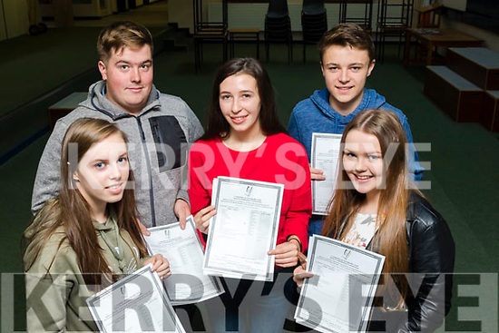 Top Class<br /> --------------<br /> Delighted with their leaving cert results are students from the Intermediate school, Killorglin, L-R Orla Cremin, Cian O'Sullivan, Trisha Browne and Niamh Fenton.