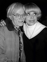 Andy Warhol Carol Channing 1978<br /> Photo By Adam Scull/PHOTOlink.net