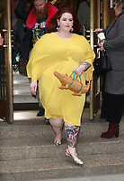 NEW YORK, NY - FEBRUARY 9: Tess Holliday  at Kate Spade - Presentation - February 2018 - New York Fashion Week: The Shows at Masonic Hall in New YorkCity on February 09, 2018.