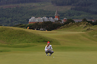 Michelle Forsland (NOR) on the 1st green during Round 2 of the Women's Amateur Championship at Royal County Down Golf Club in Newcastle Co. Down on Wednesday 12th June 2019.<br /> Picture:  Thos Caffrey / www.golffile.ie