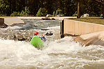 April 30, 2012. Charlotte, NC.. Erik Weihenmayer makes it through the M Wave rapid.. Erik Weihenmayer, who has been completely blind since age 13, is training at the United States National White Water Center in an attempt to kayak through the Grand Canyon. Weihenmayer is an accomplished outdoorsman who has climbed the 7 Summits, and is the only blind person to climb Mount Everest.