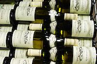 pile of bottles maranges 1er cru 2004 la fussiere dom e monnot & f santenay cote de beaune burgundy france