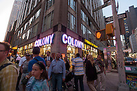 The Colony music store on Broadway in the Theater District is seen on Thursday, August 23, 2012. The store, which has been in business 64 years, a major source of sheet music and cd's, dvd's and other entertainment related merchandise has announced that it will be closing in the next several months. (© Richard B. Levine)