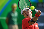 Shingo Kunieda (JPN),<br /> SEPTEMBER 12, 2016 - Wheelchair Tennis : <br /> Men's Singles Shingo Kunieda 2-0 Shunjiang Dong <br /> at Olympic Tennis Centre<br /> during the Rio 2016 Paralympic Games in Rio de Janeiro, Brazil.<br /> (Photo by AFLO SPORT)